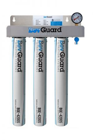 BGE-300 Three Stage Commercial Grade Beverage Water Filter for Soda Fountain Machines & Drinking Water Purification