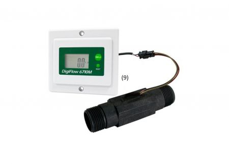 Digiflow Panel Mount Flow/Totalizer for Water Filters