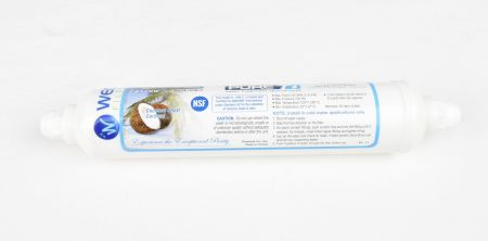 PureT Inline Coconut Shell Carbon Polishing Filter - 3/8