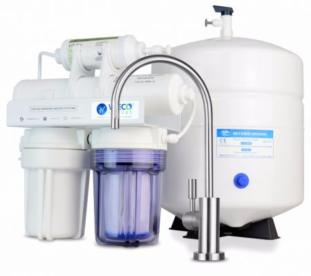 WECO TINY-50 Compact Undersink Reverse Osmosis Water Filtration System