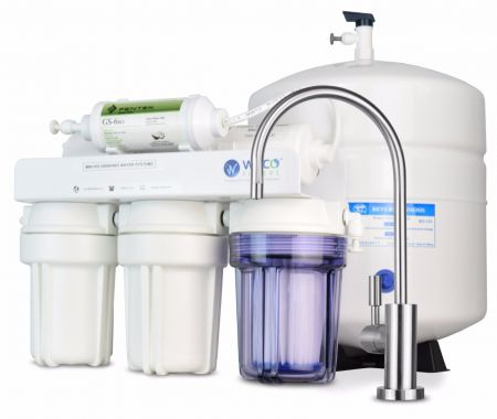 WECO MINI-150UVALK Compact Undersink Reverse Osmosis Water Filtration System with pH Neutralizer Filter and UV Disinfector