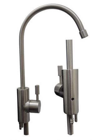 Brushed Nickel Air Gap Luxury Small Goose Neck Faucet for RO Water Filters