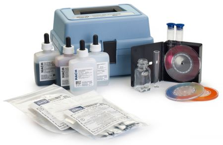 Hach CN-39WR Chlorine, Hardness, Iron, and pH Test Kit, Model