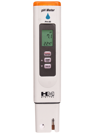 HM Digital PH-80 pH HydroTester, 0-14 pH Range, 1 pH Resolution, +/- 2% Readout Accuracy