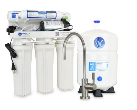 WECO VGRO-75PMP High Efficiency Reverse Osmosis Drinking Water Filtration System with Booster Pump