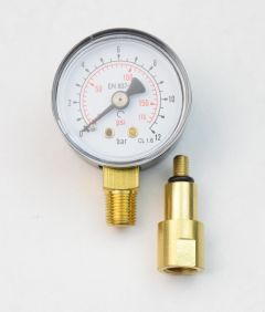 """Water Pressure Gauge - 1.5"""" Face - 1/8"""" MNPT Bottom Mount with Extension Adapter"""