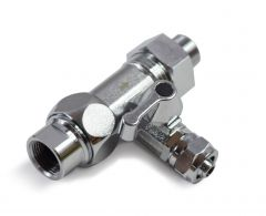 """WECO Universal Angle Stop Valve Adapter with 3/8"""" Tube Outlet"""