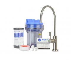 WECO Undersink Water Filter System for Chlorine Taste & Odor Reduction