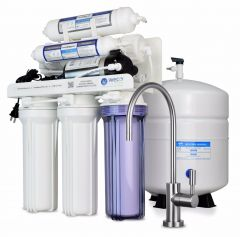 WECO HYDRA-75ALKPMP Reverse Osmosis Drinking Water Filtration System with pH Neutralizer Cartridge and Booster Pump