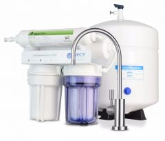 WECO TINY-150ALK Compact Undersink Reverse Osmosis Water Filtration System with pH Neutralizer Filter