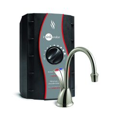 InSinkErator Hot and Cold Water Dispenser System with Stainless Steel Tank & Satin Nickel Faucet