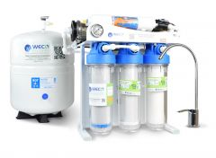 WECO KPNF-200 Undersink Nanofiltration System with Pump for Drinking Water Purification - up to 200 Gallons Per Day