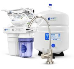 WECO TINY-150ALKUV Compact Undersink Reverse Osmosis Water Filtration System with UV and pH Neutralizer Filter