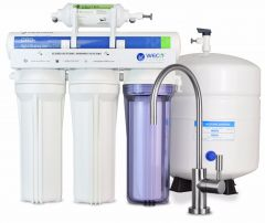 WECO VGRO-75GS-6EXTRA.25 High Efficiency Reverse Osmosis Drinking Water Filtration System with Bacteriostatic Filter