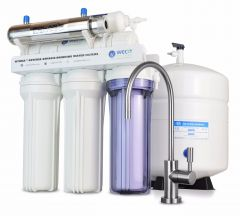 WECO HYDRA-75UV Reverse Osmosis Drinking Water Filtration System with UV Disinfection Unit