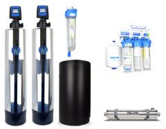 WECO COMP-1252 Complete Whole House City Water Treatment System with Water Softener, Conditioner, UV Disinfection System & Drinking Water RO System