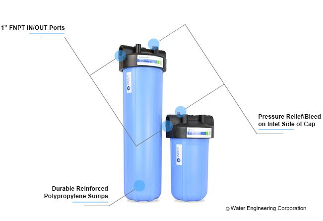 WECO Big Blue sediment filter