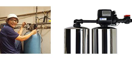 Automatic backwashing filters