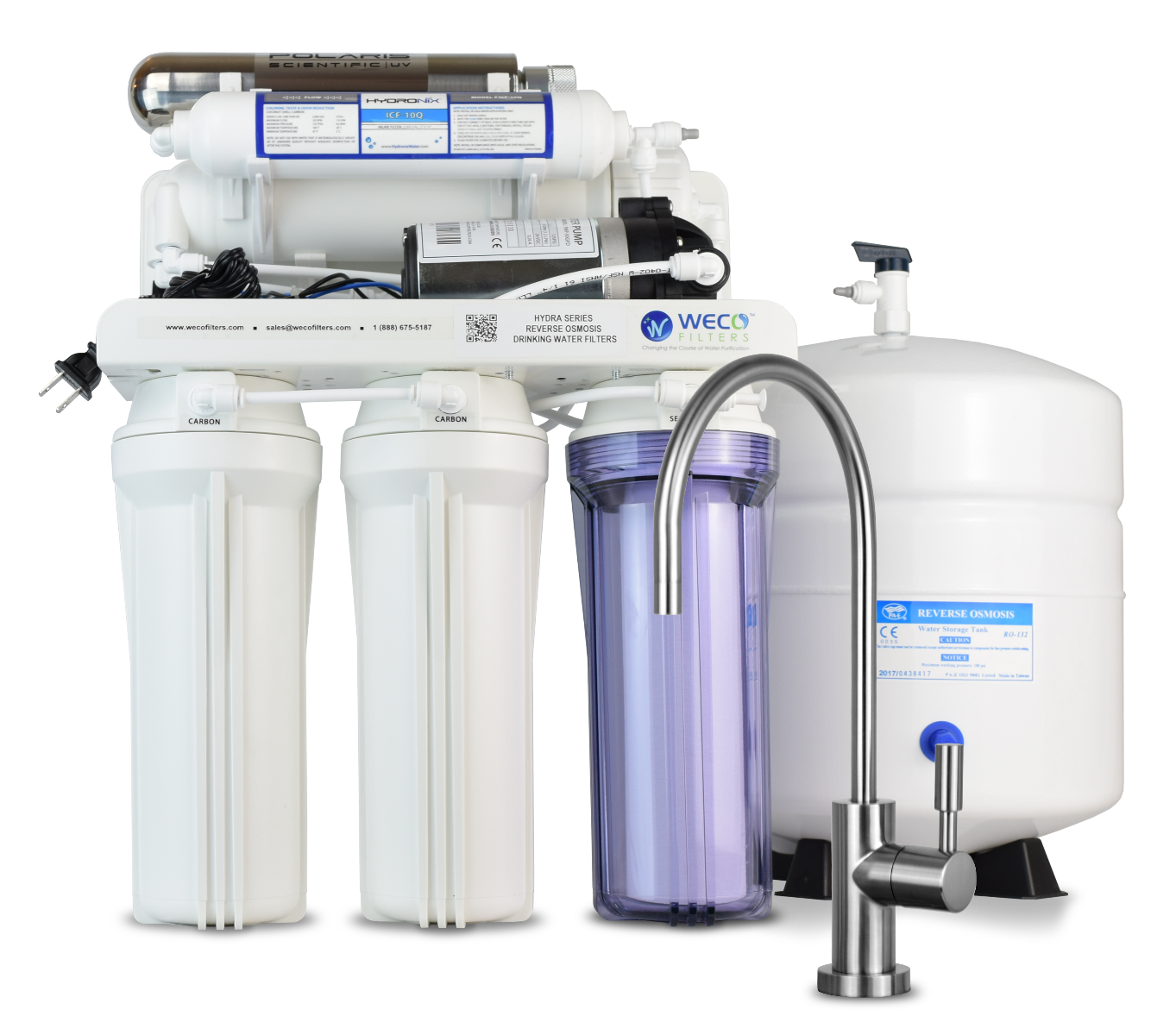 Hydra Reverse Osmosis Drinking Water Filter with UV