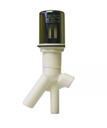 "Dishwasher Style Air Gap for RO w/½"" FIP connection (Includes ½"" MIP x ¼"" Push Connector), Chrome Color"