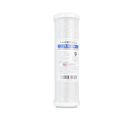 Hydronix CB-25-1005 Carbon Block 5 Micron Filter for Chlorine, Taste and Odor Reduction