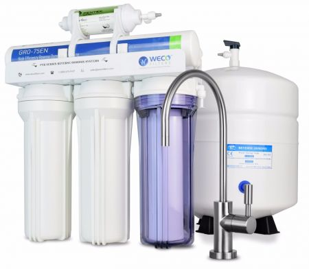 WECO VGRO-75GS-6RO High Efficiency Reverse Osmosis Drinking Water Filtration System