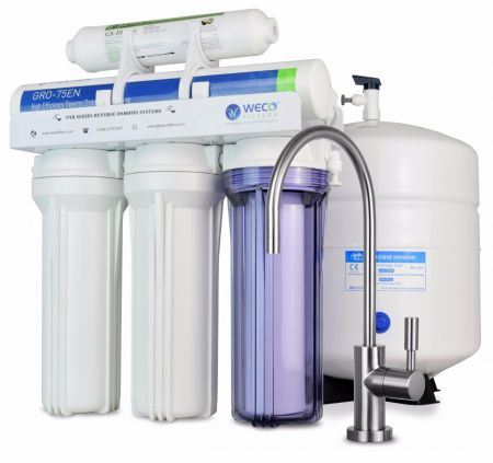 WECO VGRO-75ALK High Efficiency Reverse Osmosis Drinking Water Filtration System with pH Neutralizer Filter