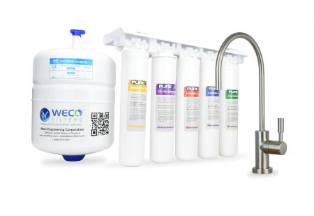 WECO GMQ-50X Compact EZ Twist Reverse Osmosis Water Purification System