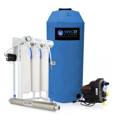 WECO EXTRA-300 Whole House Reverse Osmosis Filtration Equipment | Up To 2 Baths