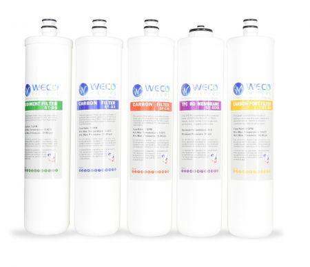 WECO GMQ-SET5-50 EZ Twist Replacement Filter Set