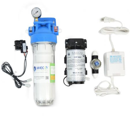 WECO GYC-3800 Reverse Osmosis (RO) Pressure Booster Pump Kit (up to 100 GPD)