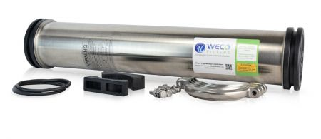 WECO SS4021 Reverse Osmosis Membrane Housing 304 Stainless Steel ½