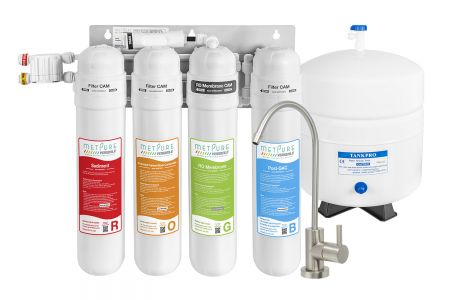 Metpure MV4-ROGB Compact Reverse Osmosis Water Filtration System - 50 GPD