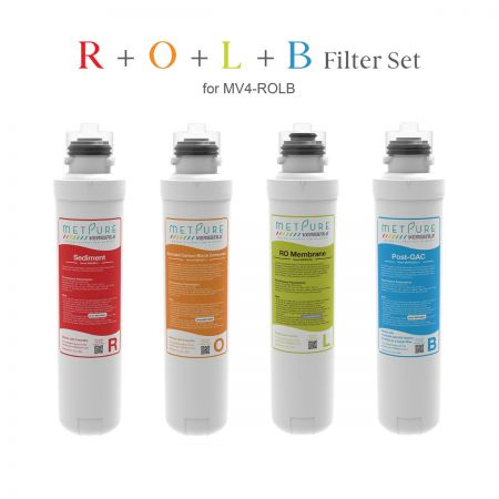 R+O+L+B Filter Set for Metpure MV4-ROLB RO System