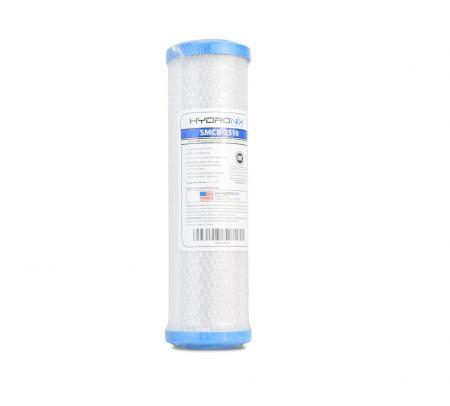 Hydronix SMCB-2510 Carbon Block 0.5 Micron Filter for Chlorine, Taste & Odor Reduction