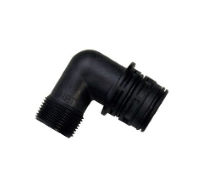 """1"""" 90° Drain Housing (5812) (Includes adapters to accommodate small, medium, large button) (1-35 GPM)"""