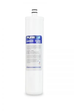 ST-33 Quick Twist Carbon Filter Cartridge for Chlorine Reduction in Water.