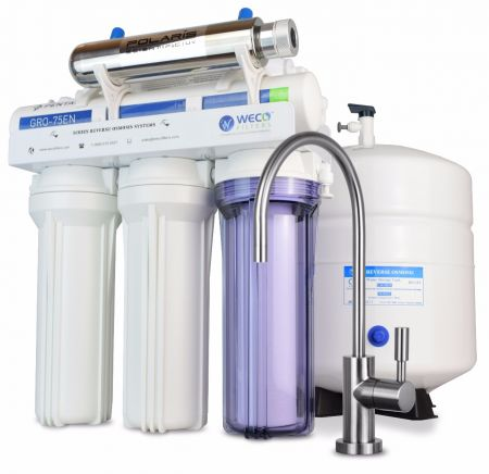 WECO VGRO-75UV High Efficiency Reverse Osmosis Drinking Water Filtration System with UV