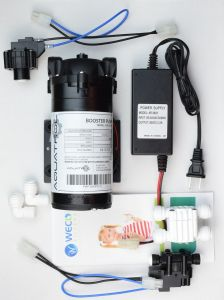 WECO BPC-3800-300 Reverse Osmosis Booster Pump Kit with Hi/Low Pressure Switches, Transformer and Auto Shutoff Valve(300 GPD)