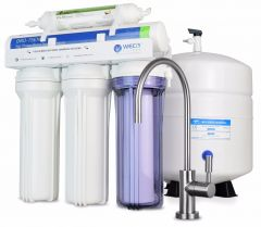 WECO VGRO-75GS-10EXTRA.5 High Efficiency Reverse Osmosis Drinking Water Filtration System with Bacteriostatic Filter