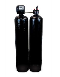 Backwashing Charcoal and Anti-Scale Dual Tank Whole House Water Filtration System