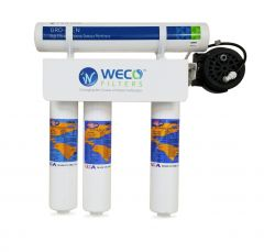 WECO VGRO-50Q-PERM Reverse Osmosis Drinking Water Filter System with Permeate Pump
