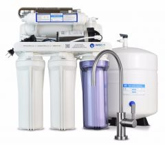 WECO HYDRA-75UVPMP Reverse Osmosis Drinking Water Filtration System with UV Disinfection Unit and Booster Pump