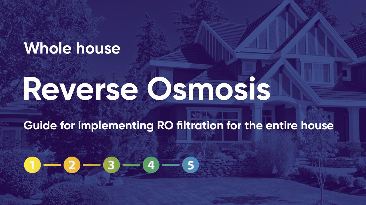 Whole House Reverse Osmosis (RO) Setup