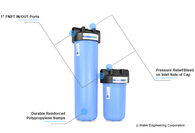 WECO Big Blue sediment filter