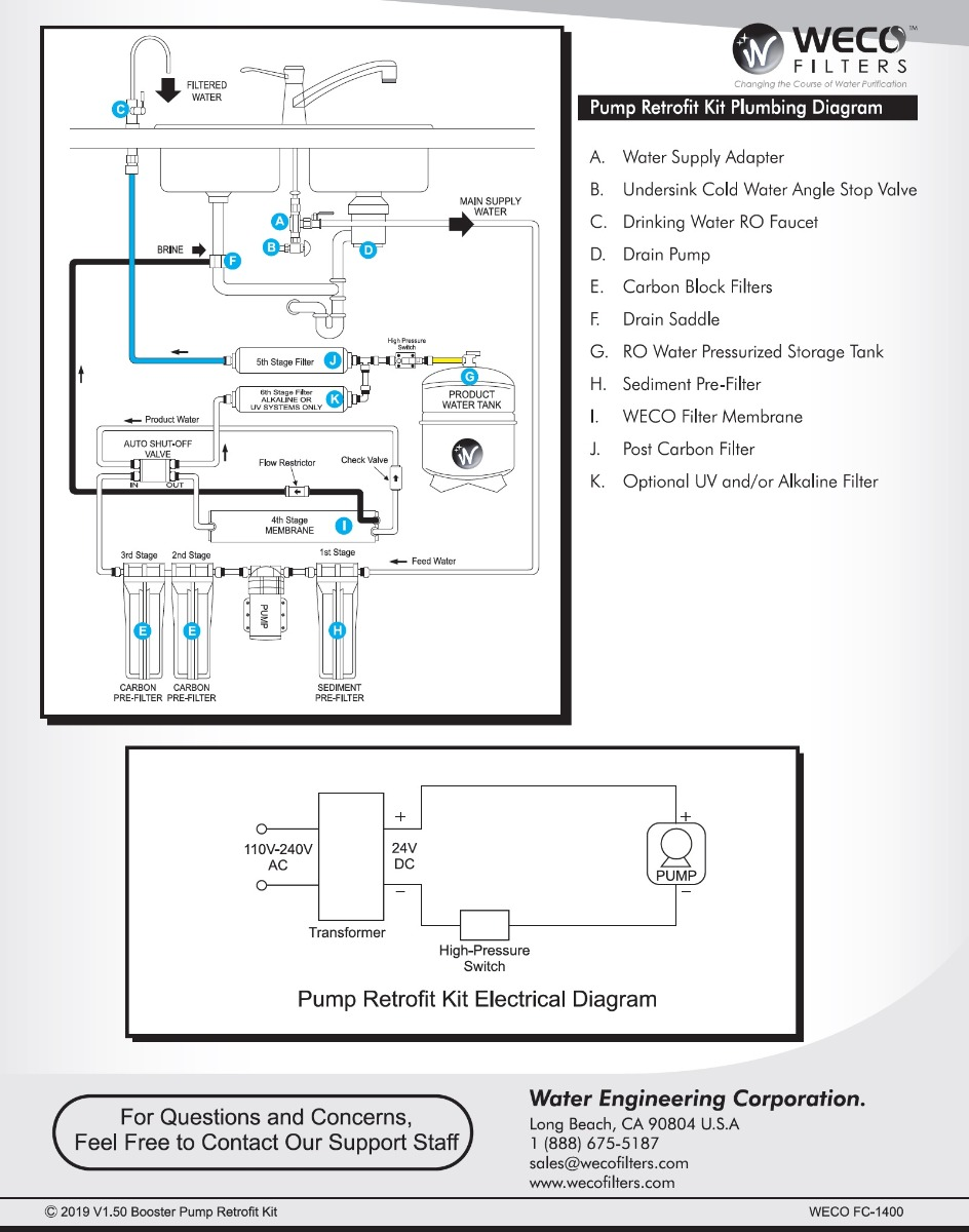 Booster_Pump_Installation_Diagram  Booster Pump Wiring Diagram on 5 stage ro system tank, technology flow, typical installation, for commercial, for water piping, pressure tank piping,