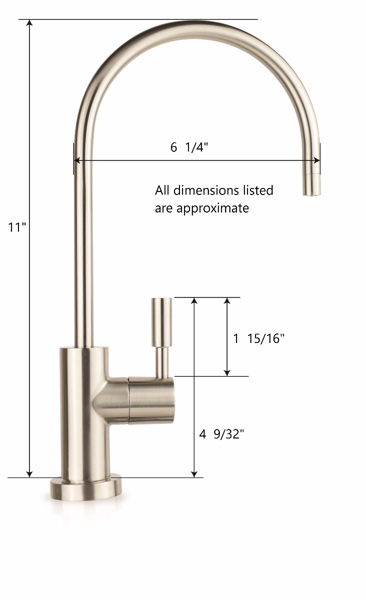 RO Faucet Dimensions