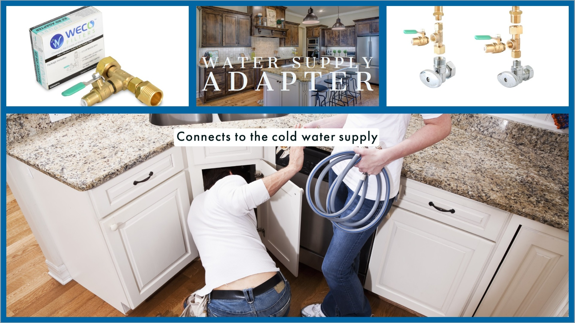 cold water supply adapter